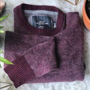 H&M LOGG Red Crewneck Knit Sweater